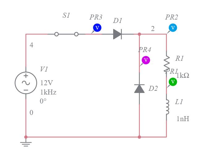circuito con diodo de marcha libre