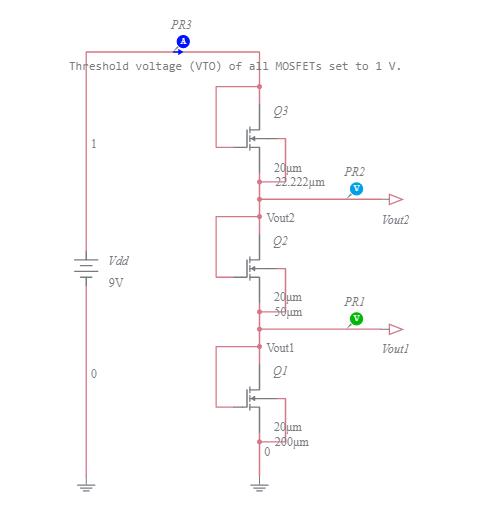 MOSFET Voltage Divider - Multisim Live