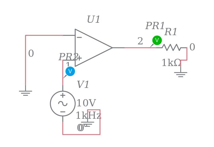 detector de cruce por cero  no inversor