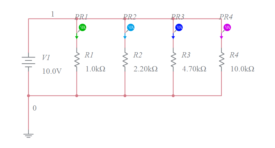 A DC Parallel Circuit with Four Resistive Branches v1 ...