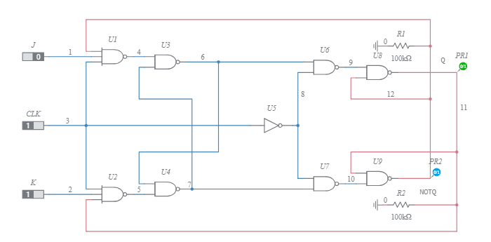 Counter To 7 Segment Display With Jk Flip Flops And Logic Gates