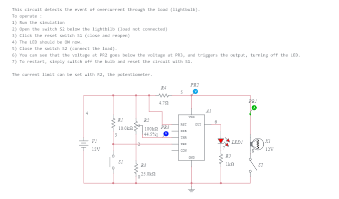 Preview of 555 overcurrent detection