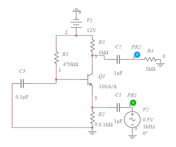 fixed circuit diagram common base amplifier fixed bias circuit multisim live  common base amplifier fixed bias