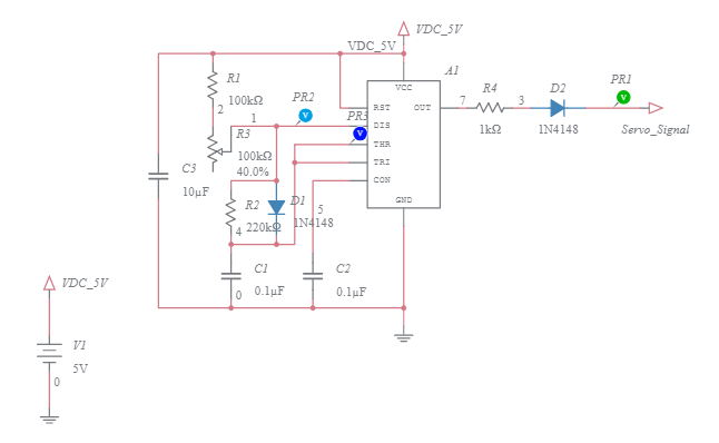 Preview of 555 Timer Servo Controller