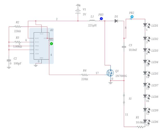 DC-DC Boost Converter using 555 Timer - Multisim Live